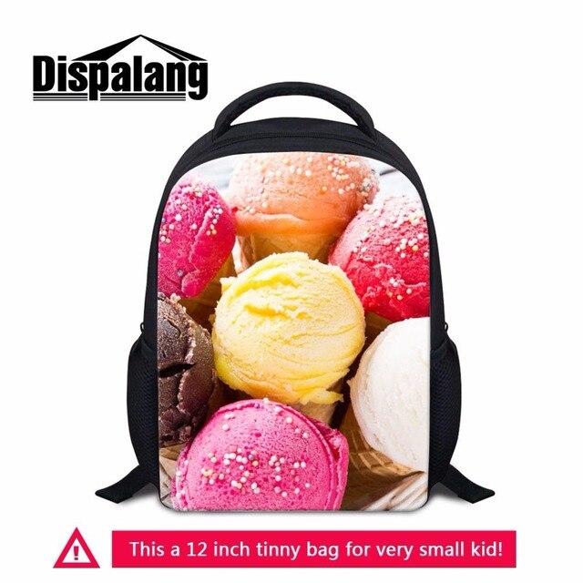 Dispalang Ice Cream 3D Print Kids Kindergarten Backpacks 12 Inch Little Girls SchoolBag Children Book