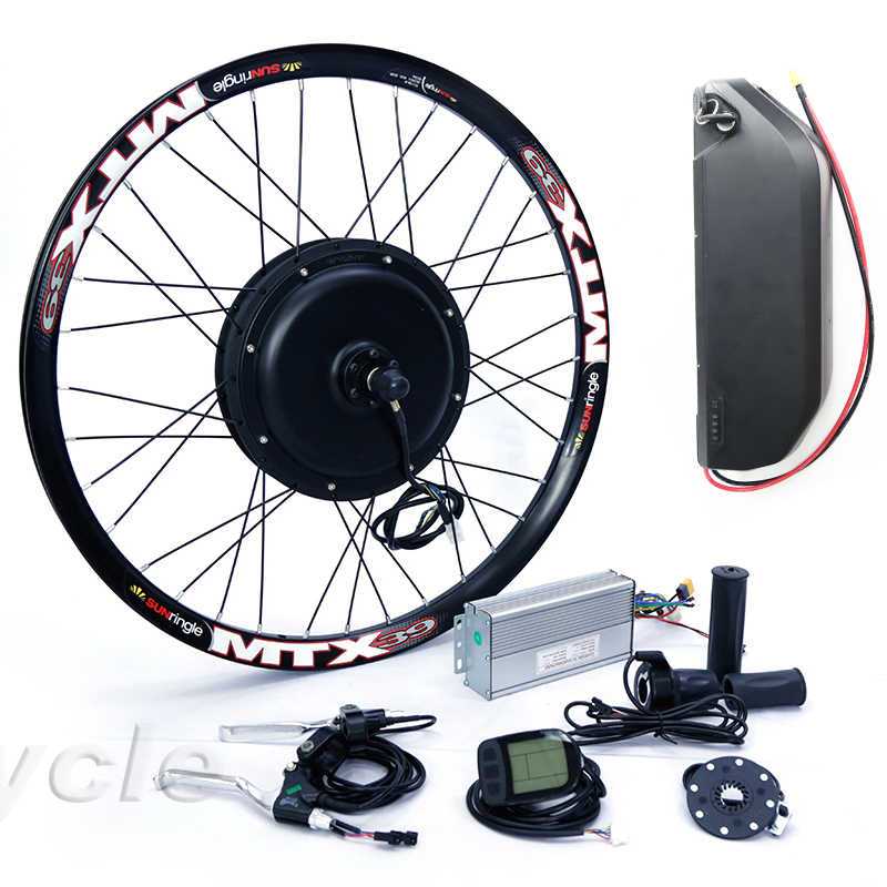 High Power e bike kit 52v 2000W electric bike conversion kit with 52V 17AH lithium battery Pack