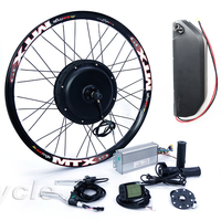 High Power ebike kit 52v 2000W electric bike conversion kit with 52V 17AH lithium battery Pack