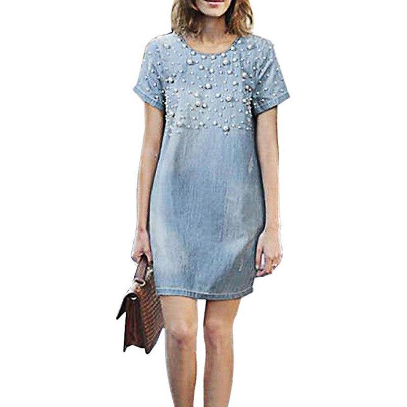 Venta caliente 2017 vestido de tirantes de la mujer denim dress vestidos feminin