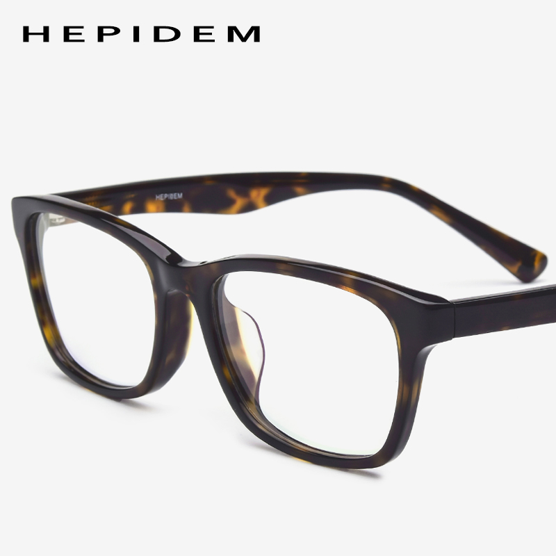 Acetate Optical Glasses Frame Men Fashion Designer Myopia Prescription Eyeglasses Women Full Square Nerd Spectacles Eyewear 9101