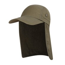 123ef36f098ed Fishing Cap with Ear Neck Flap Cover Adjustable Breathable Waterproof  Sunshade Folding Mesh Sports Hat Sportswear