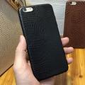 Funda de cuero suave para iphone 6 6 s 7 más el grano de cocodrilo estilo de Lujo de Negocios Cubierta Protecter Piel Fina Completa Dama Hombre Inteligente delgado