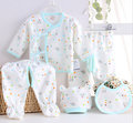 5 pçs/set 2017 Primavera Novo Bebê Infantil Conjunto de Roupas de Verão Do Bebê Recém-nascido Menino/Menina 0-6 M Roupas algodão Roupa Interior Dos Desenhos Animados