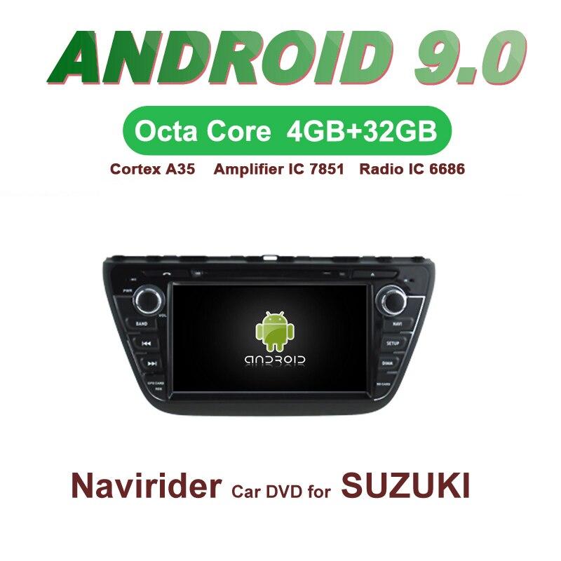 ELANMEY voiture gps navigation Pour SUZUKI S-CROSS sx4 2013-2015 android 9.0 écran tactile DVD de VOITURE multimédia radio bluetooth headunit