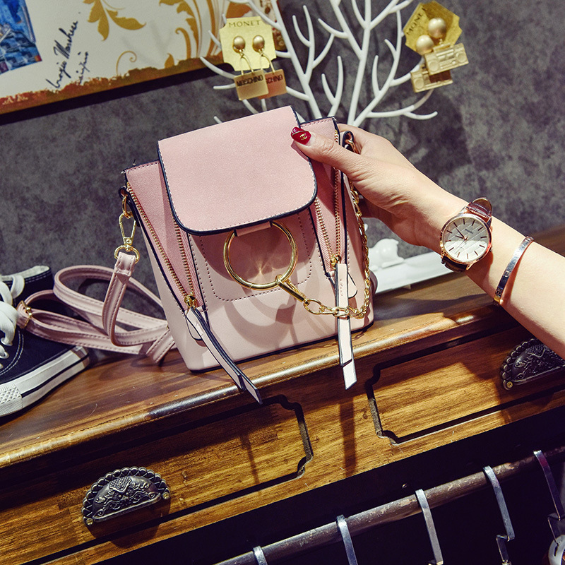 Women Bags 2018 New Womens Shoulder Bag Korean Wild Three Handbags Fashion Hit Color Bag Schoolbags