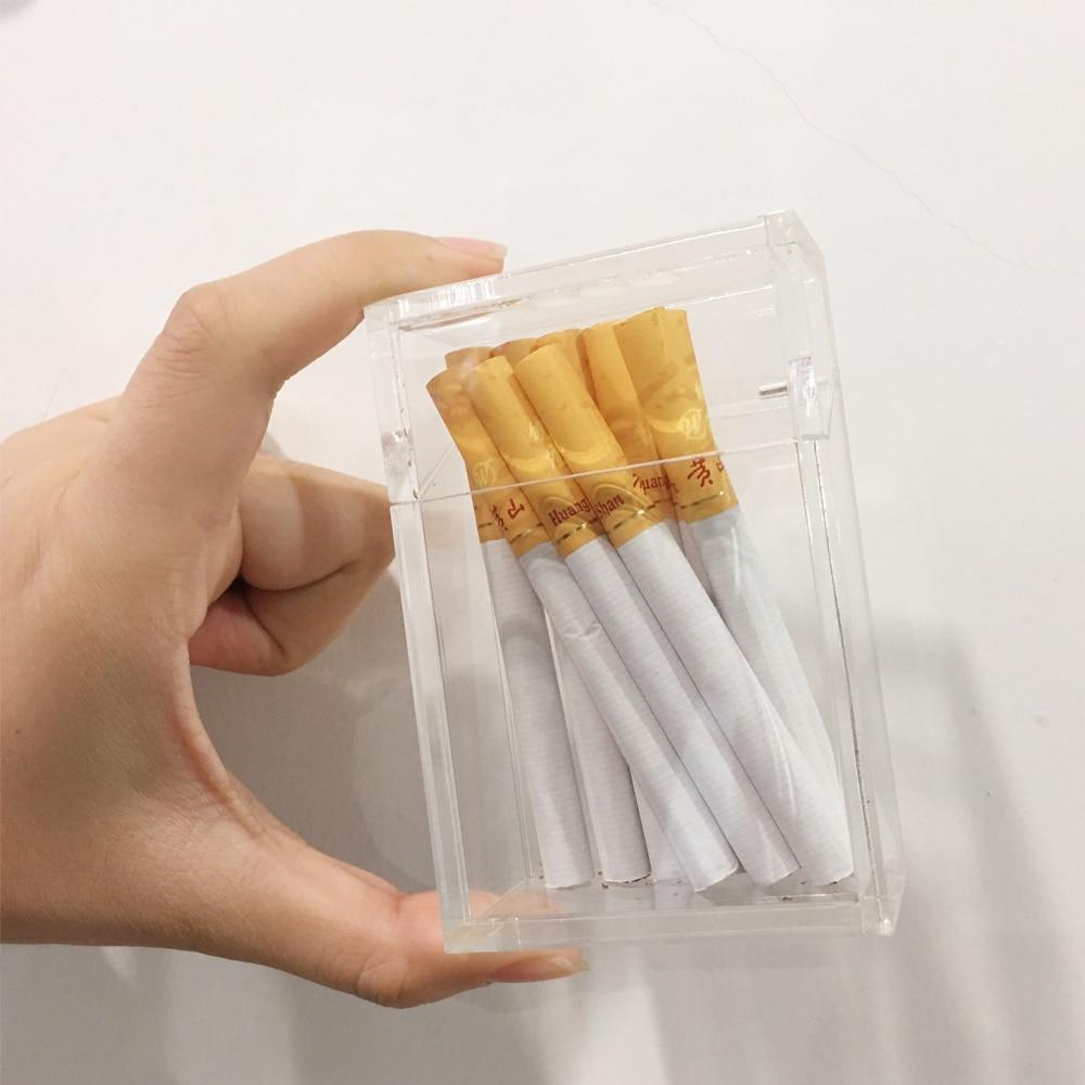 New Cigarette Case Fashion Acrylic Storage Box Holds 20 Cigarettes Cigar Cases Portable Boxes Man Woman