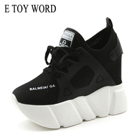 E TOY WORD Inner Increased Female Mesh Shoes Spring Autumn 2018 New Red Casual Shoes Women