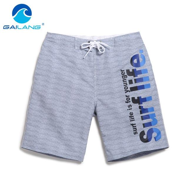 5f49e5c474cc6 Gailang Marca Homens Praia Shorts Board Shorts Boardshorts Troncos do  Pugilista Dos Homens de Secagem Rápida