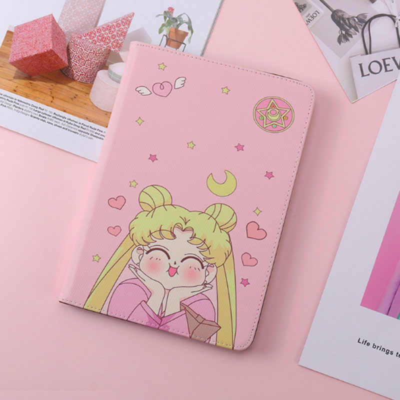 Sailor Moon Patroon Case Voor ipad 2017 2018 Cover Fashion Leather Silicone Soft Cover Voor ipad pro 9.7 Air 1 Air 2