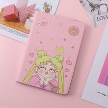 Sailor Moon wzorzyste etui do iPada 2017 2018 okładka moda skóra miękkie silikonowe tylna pokrywa dla ipad pro 9 7 Air 1 Air 2 tanie tanio DrLmm Osłona skóra 9 7 6 9inch For Apple iPad Tablet Case For ipad Air 1 Air 2 Kreskówki 9 7inch Tablet Case For ipad 2017 2018
