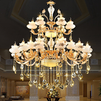 European Chandelier Crystal Light Living Room Restaurant led Crystal Lamp Chandeliers for Hall Modern Big Chandeliers Lustres