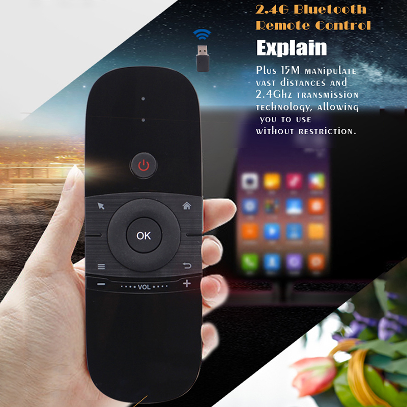Wireless 2.4G Keyboard Mouse Original Wechip W1 Fly Air Mouse Rechargeble Mini Remote Control For Android Tv Box/Mini Pc/Tv