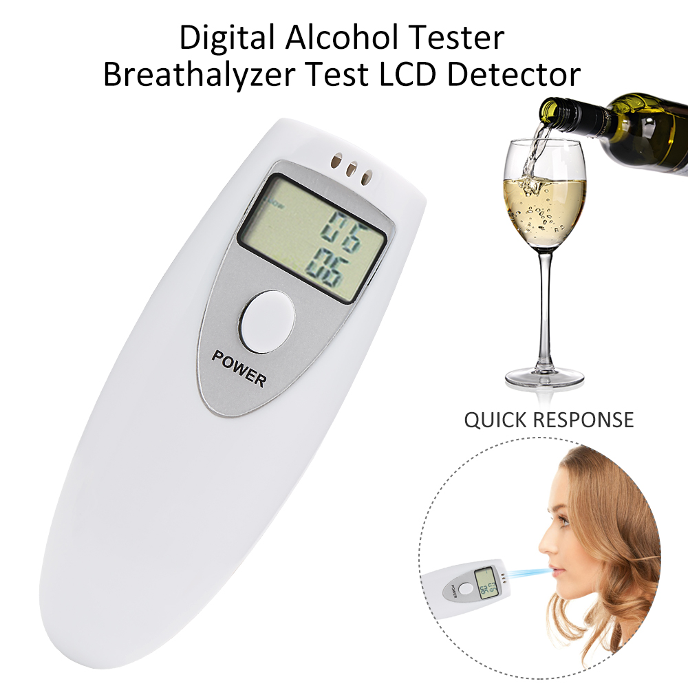 Digital professional Portable Breath Alcohol Analyzer Digital Breathalyzer Tester Alcohol Detection xintest ht 611 professional breathalyzer alcohol meter analyzer detector