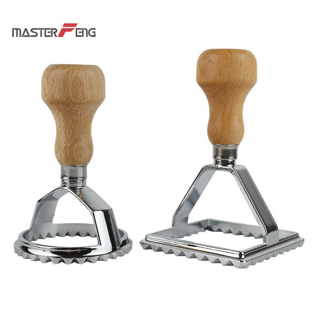 Ravioli Maker Stamp Set Of 2 Pieces Round Square Shape Pasta Mold Tool