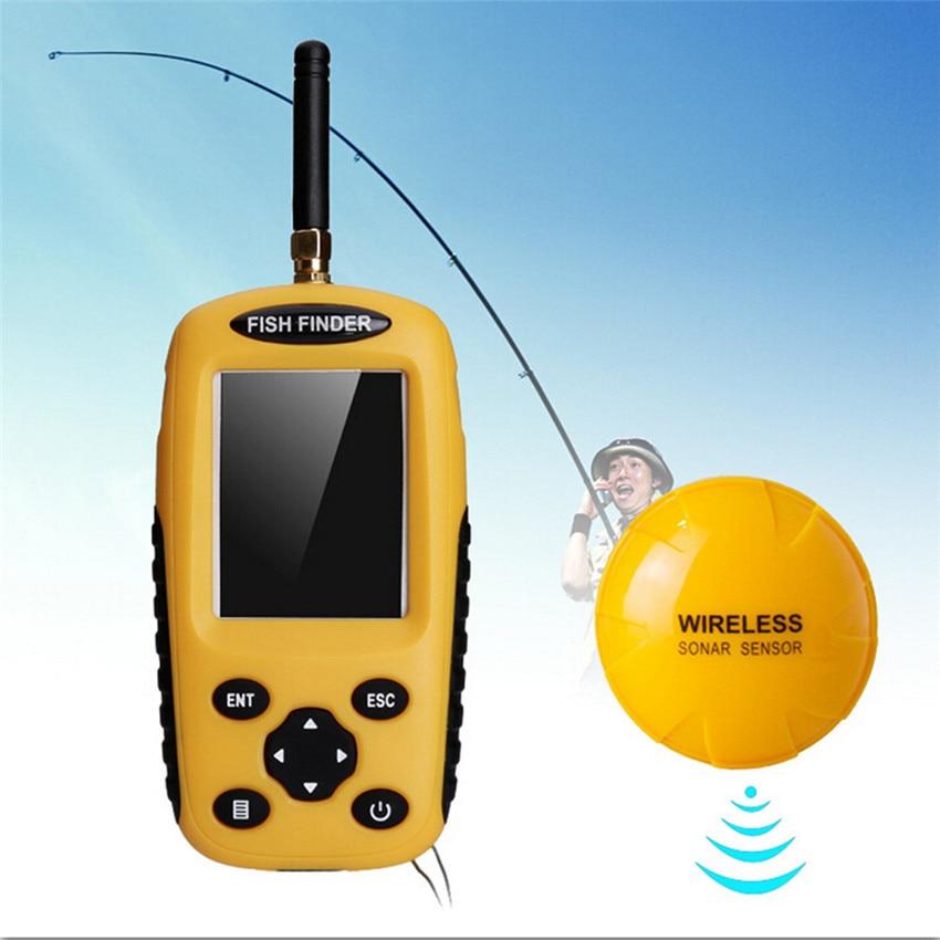 Fish Finders Alarm 0.6 -36M Wireless Sensor Adjustable Depth And Sensitivity LCD Fishing Lure Bait Back Light Display Finder M20