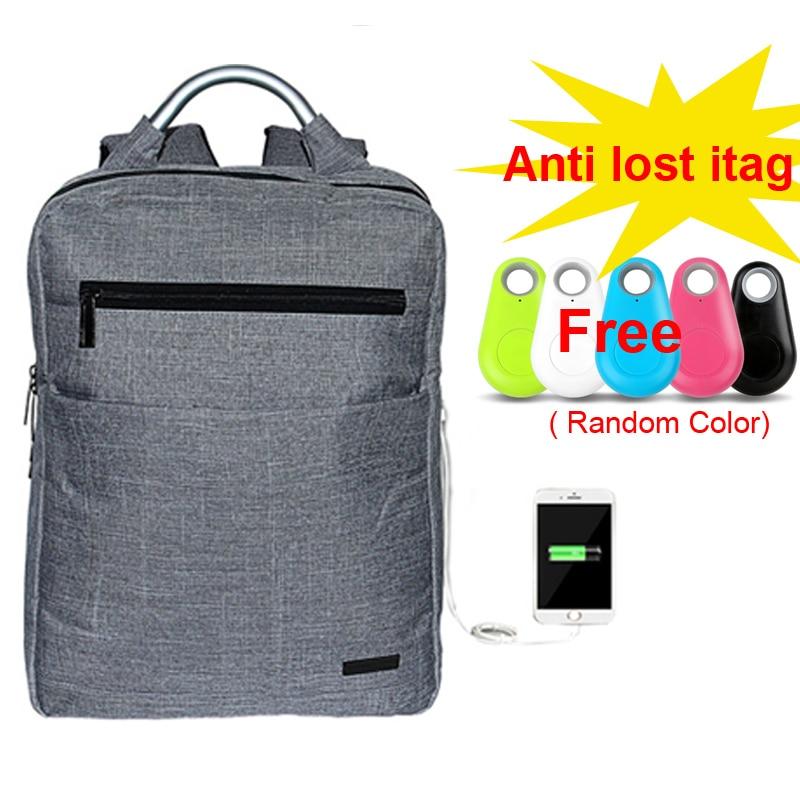 Nylon ordinateur portable hommes sac à dos USB Port de chargement sac de voyage Mochila étanche sac à dos portable chargeur téléphone école sac à dos hommes