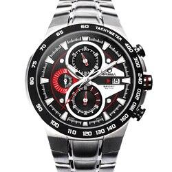 Luxury Brand Watches Men Sports Luminous Racing Mens Quartz Movement Wrist Watch Waterproof 100m Stainless steel CASIAM#8209