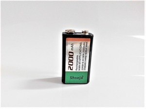 10pcs/lot Large-capacity 2000mAh Ni-MH 9V rechargeable battery 9 volt battery for Microphone