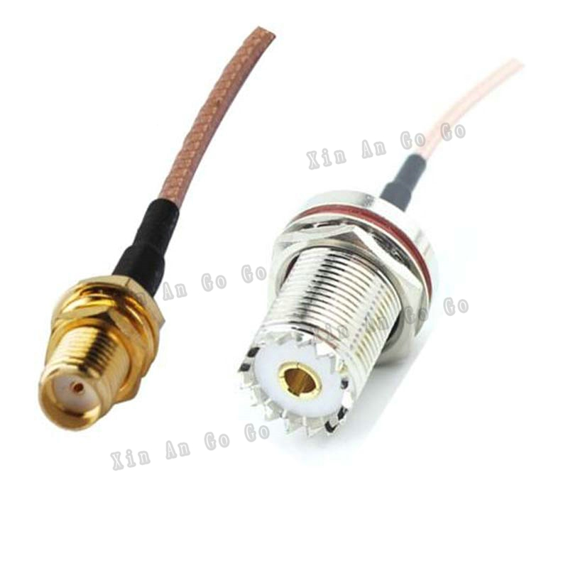 RF Coaxial cable UHF to SMA connrctor UHF female to SMA female Straight RG316 pigtail cable 15cm or other fast ship