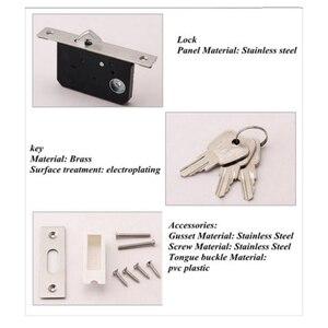 Image 5 - Movable Sliding Door Lock Handle Locks Keyed Privacy Door Security Door Lock