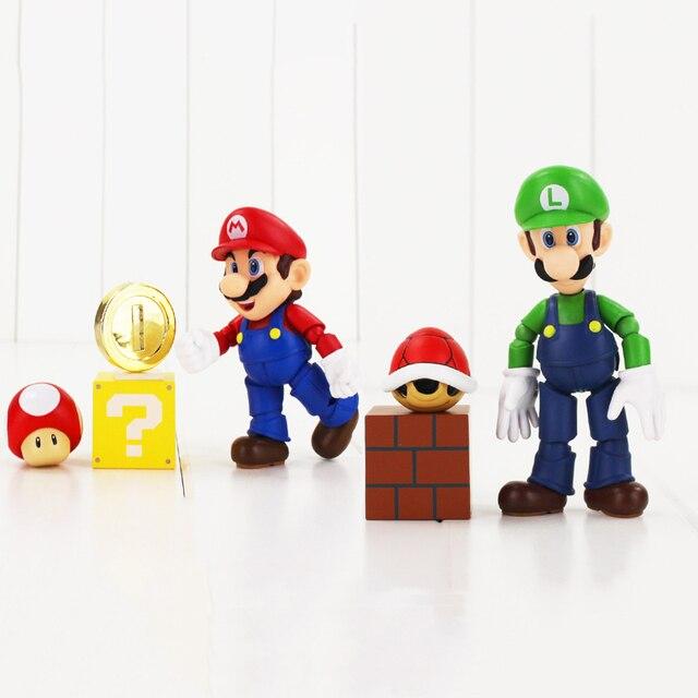 Super Mario Action Figure Mario Luigi Mit Kröte Mushroon Schildkröte