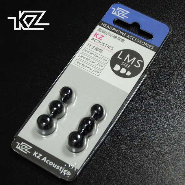 KZ מקורי זיכרון קצף אוזן טיפים 3 זוג (6 Pcs) רעש בידוד נוח אוזן רפידות באוזן אוזניות עבור KZ ZSX ZS10 פרו אוזניות