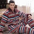 2016 Мужские Пижамы Мужские Пижамы Пижамы Мужчин Pijama Masculino Зима Три Толще Коралловый Пиджак Клип мужской Одежды На дома