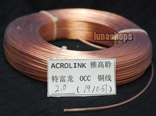 1m Outside Dia:2mm 19Pins*0.37mm Acrolink OCC Signal Teflon Wire Cable For DIY Hifi 99.99999% Pure Copper