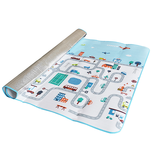 200*180CM Baby Play Mat Road Kid Rug Blanket Developing Mat Soft Floor Children Waterproof Pad Gym Activity Crawling Carpet