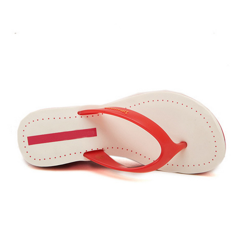 11ad3aa57927 Branded Wedge Sandals Ladies Summer Beach Shoes Platform Flip flops Female  Shoes Small Size 35 39 sandales talon femme-in Slippers from Shoes on ...