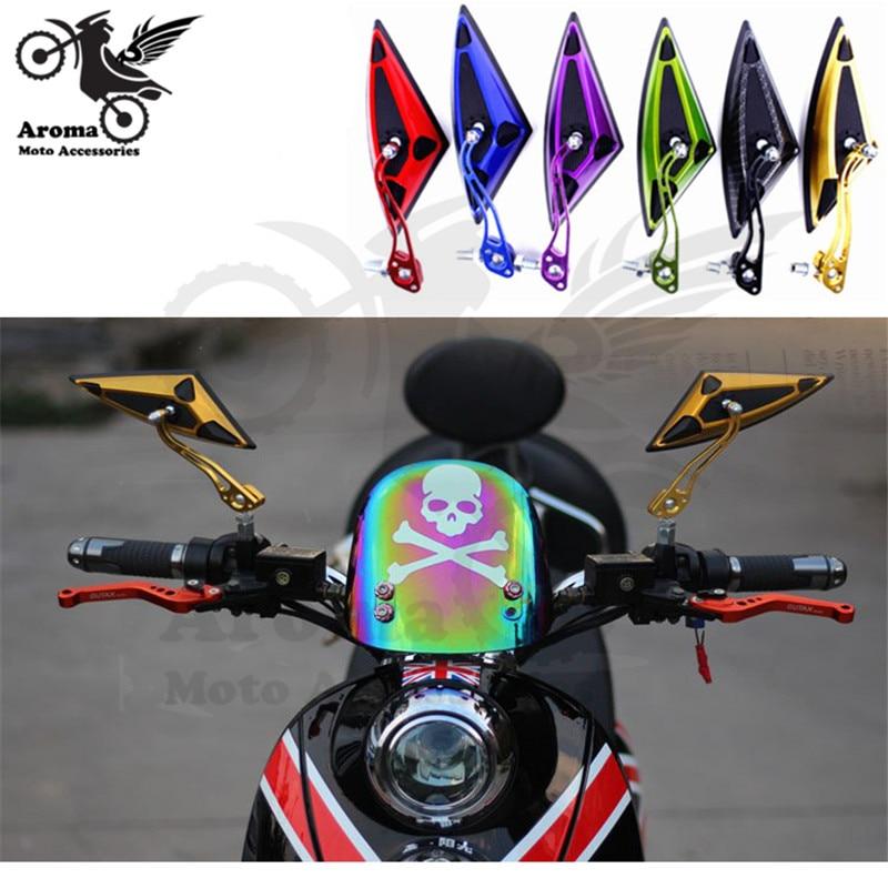 Triângulo universal 8 MM 10 MM moto acessórios para honda suzuki yamaha moto rcycle rbike scooter espelho retrovisor espelhos laterais moto