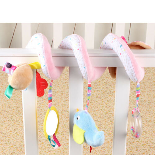 Animals Cot Spiral Activity Hanging Baby Soft Plush Dolls Educational Toys
