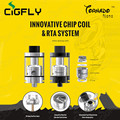Original IJOY Tornado Nano RTA Tank 4ml 0.3ohm Chip Coil RTA Atomizer with 18.6mm Two Post Deck tornado nano RTA Tank