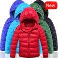 Children's Boys Winter Duck Down Warm Jackets Parka Coats 2015 New Brand 6-12Years  Kids Teen Boys Thermal Hooded Coat Outerwear