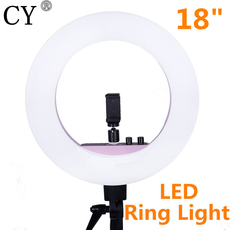 CY Fotografia 50W 480 LED Ring Light 5500K Photographic Lighting Dimmable for Camera Photography Photo Studio/Live/Phone/Vide