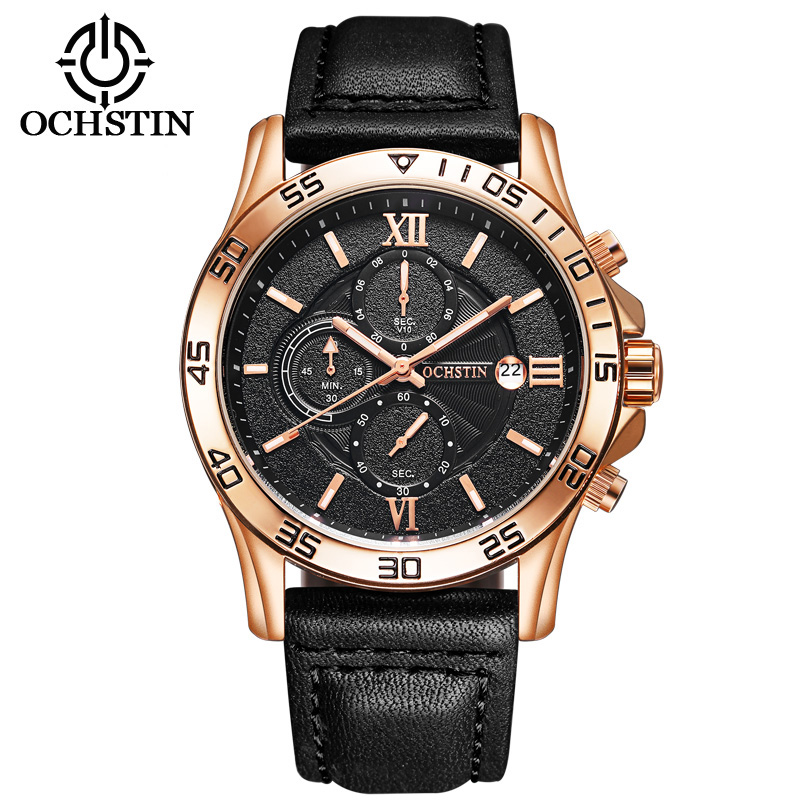 Top Luxury Brand OCHSTIN Men Sports Watches Men's Quartz Date Clock Man Leather Army Military Wrist Watch Relogio Masculino watches men luxury top brand fashion sports men s quartz hour date clock male army military wrist watch relogio masculino