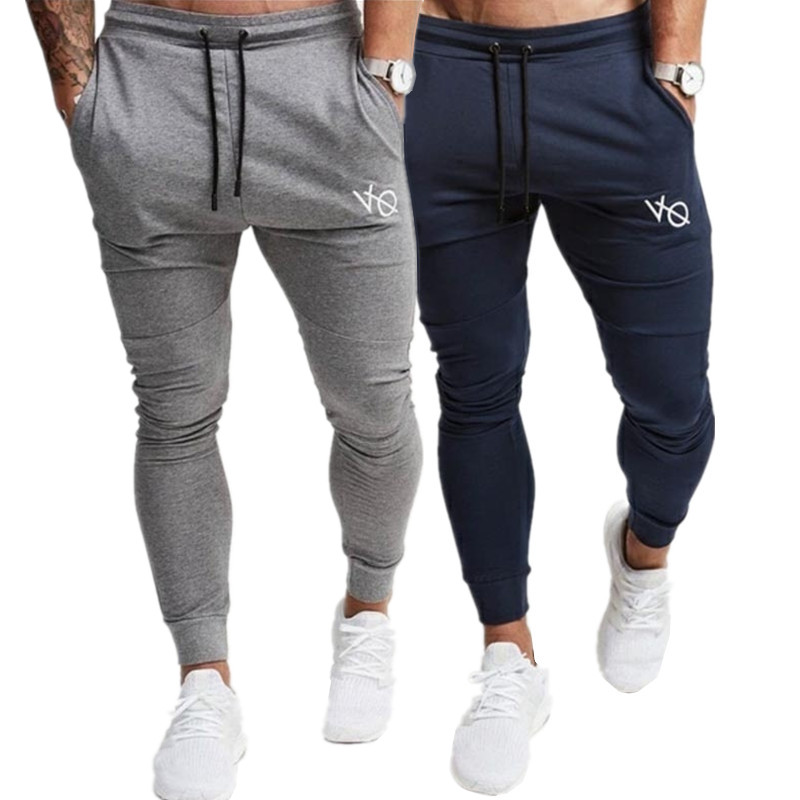 2019 Fashion New Men's Casual Boutique Sports Pants / Men's Elastic Waist Drawstring Design Stovepipe Skinny SweatPants Trousers