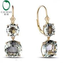 Caimao ювелирные изделия романтическое 14K золото и 12.85ct Помолвочное кольцо с аметистом висячие серьги