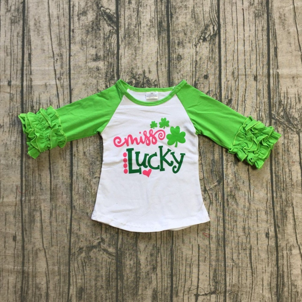 ca8ea1b4c 3 designs in stock baby girls raglan tops St Patrick day raglan boys lucky  little DUDE raglans girls lucky unicorn Shamrock top -in T-Shirts from  Mother ...