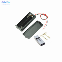 50Pcs 2xAAA Battery Case Holder Socket Wire Junction Boxes With Wires, Switch&Cover, Dupont 2.54mm 2P Header and Crimps