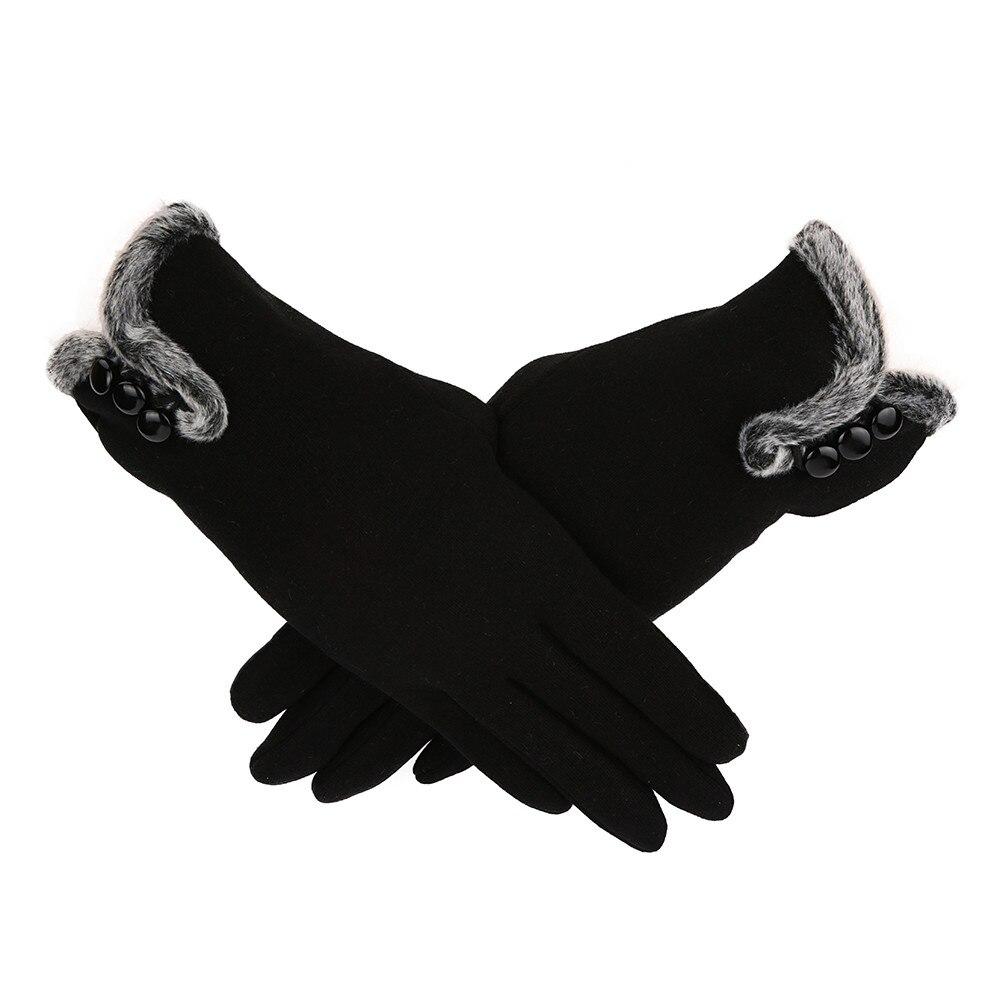 Bekleidung Zubehör Zielsetzung Neue Stil Frauen Weibliche Handschuhe Winter Warme Frauen Leater Wasserdichte Fahren Voll Finger Handschuhe Touch Screen Handschuhe Für Mobile 18no
