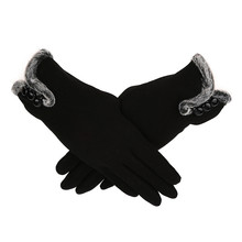 f9b1c7fe1 New Style Women Female Gloves Winter Warm Women Leater Waterproof Driving  Full Finger Gloves Touch Screen