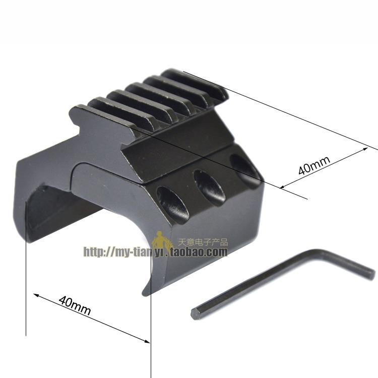Tactical Hunting Swivel Converter 20mm Weaver Picatinny Adapter Rail Bipod Flashlight Mount