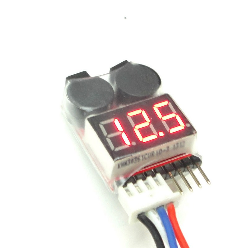 2 in 1 Low Voltage Buzzer Alarm 3.7-30V 1-8S Lipo/Li-ion/Fe Battery Voltage Detector Tester rc model 2s 3s 4s detect lipo battery low voltage alarm buzzer