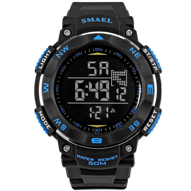 Smael led sport watch digital-relógio relogio masculino digital de 50 m à prova d' água homens relógios lcd s choque relogio masculino clockws1235
