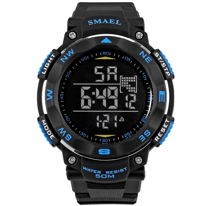 78b7a0863bfc Smael reloj del deporte led digital reloj 50 m hombres impermeables relojes  lcd relogio masculino digitales s golpes relogio masculino clockws1235 en de