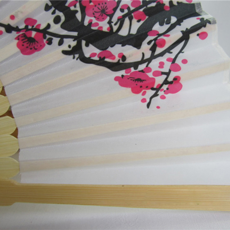 1pcs Chinese Folding Hand Fan Anese Cherry Blossom Design Silk Costume Party In Figurines Miniatures From Home Garden On Aliexpress Alibaba