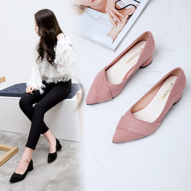 Ake Sia 2019 summer pointed sexy women's with high heel