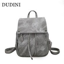 Dudini колледж ветры плечи Сумки из искусственной кожи женские дорожные Рюкзаки мягкие однотонные женские Модные студент рюкзак